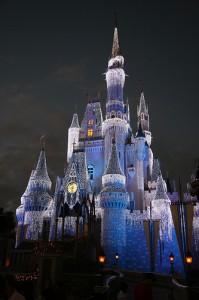 Disney's Magic Kingdom Cinderella Castle at Christmas